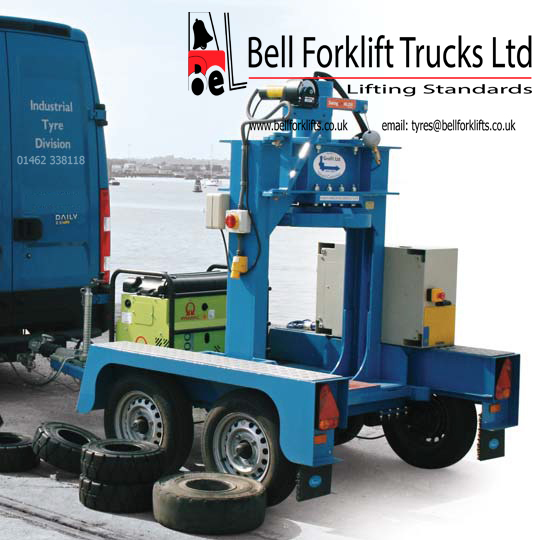 Forklift tyres fitting