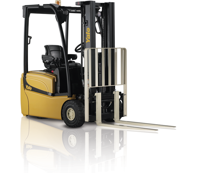 3 Wheel Electric forklift trucks available to hire